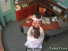 Sexy patient fucked in a hospital waiting room