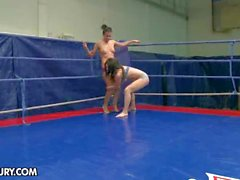 Nude Fight Club loves Tiffany Doll vs Denise Sky