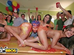 BANGBROS - Dorm Invasion Surprise Party With Diamond Kitty And Friends