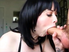 Amateur Tattoed Busty Emo Teen Loves Blowjob POV