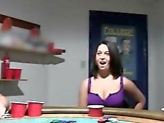 Young cheerleaders fucking on poker night