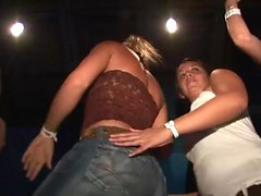 Amazing girls like to dance at the party