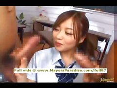 Miyu Hoshino innocent Chinese schoolgirl enjoys getting a hard fucked