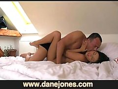 DaneJones Young couple make home movie creampie