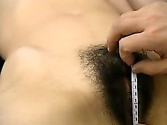 Hairy amateur student having massage