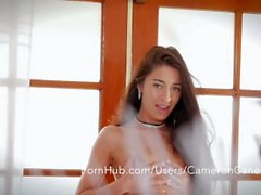 Tiny Brunette Makes Her Tight Pussy Cum