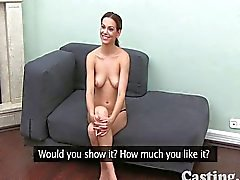 Flexible young girl in casting