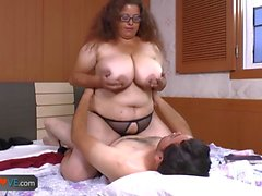 AgedLove Nice older brunette is enjoying young man visit