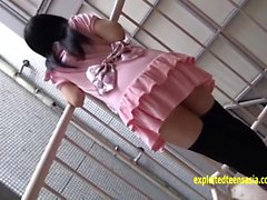 Petite Jav Teen Strips In Photo Booth And Outside Then Roped