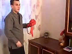 Russian Mom Catches Boy Sniffing Panties
