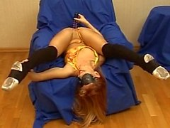 Flexible Russian girl doing herself