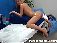 Teen gets tasty massage and a fuck in the pussy