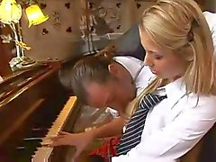 Music teacher fucks the piano student