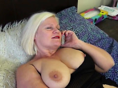 Granny bound by lesbian