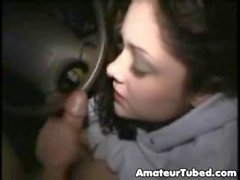 Drunk girl blowjob in car