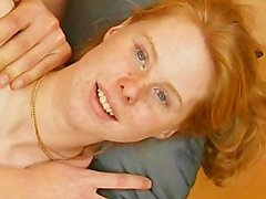 Redhead German Babe Likes Cock