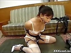 Asian Teen Gagged With Cock