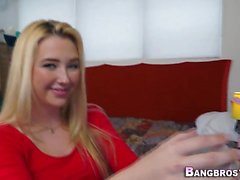 Bendy blonde teen pounded