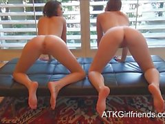 POV date with Lara Brookes and Kiera Winters creampie