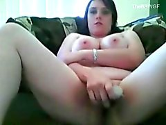 Fat Chubby Teen masturbating her Wet Slippery Pink Pussy