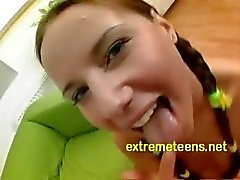 Euro Teen In Pigtails Fucked In Th