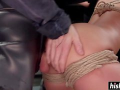Monster shaft drills her tight pussy