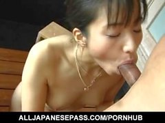 Momo Junna has leering body soaped and sucks stiffy and balls