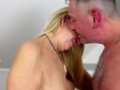 german hairy milf ans stockings fucked and facial by younger