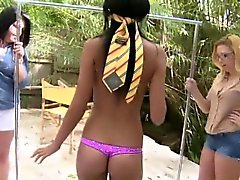 Horny college teens toyed