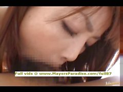 Risa Kasumi innocent Chinese girl blowjobs and titsjob