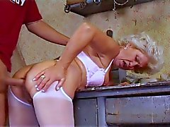 Granny fucked hard by young dude
