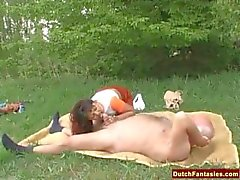 Old Man Fucks Teen Schoolgirl Outdoors
