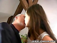 Street slut Kinga fucked by an old guy