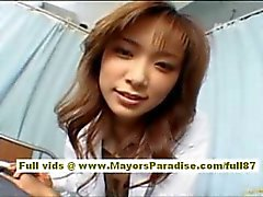 Risa Kasumi Asian nurse is having a fuck party