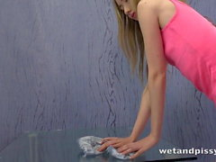 Wet and Messy Teen Cant Get Enough Piss