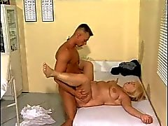 Fit young doctor fucks BBW granny