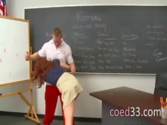 Coach fucks a sleek young student