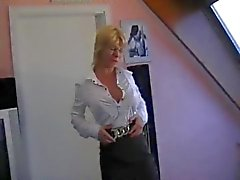 Hot German Mom Teaches Young Boy about sex