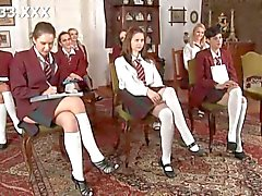 Hot schoolgirls get into a delicious orgy