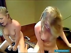 Twins paying their rent on cam site.