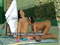 Billy and Isabella lovely lesbo babes fingering