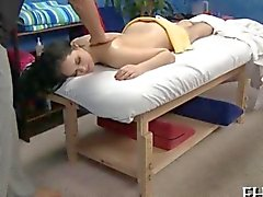 Cute receives a hard fuck during the massage