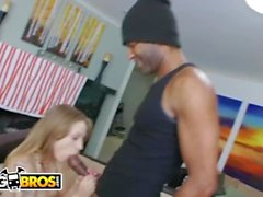 BANGBROS - Petite White Girl Alyssa Branch Takes Big Black Dick On MOC