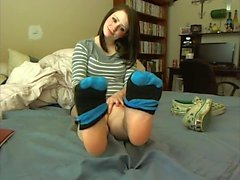 Emo teen JOI and foot worship
