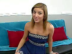Southern belle Katie King fucked on the couch