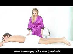 Skinny Teen Avril Hall Massage and Blowjob