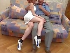 German granddad fuck cute redhead teen