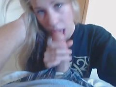 19yr old Jana sucking dick until he cums in her mouth