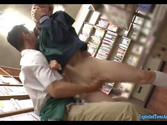 Jav Idol Sonoda Ayuri Ambushed In Book Store Stripped And Fucked Hard Amazing Shaved Pussy