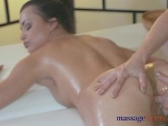 Massage Rooms Two stunning young lesbians get down and very dirty